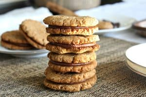 Chewy Chocolate Almond Butter Sandwich Cookies {Paleo}