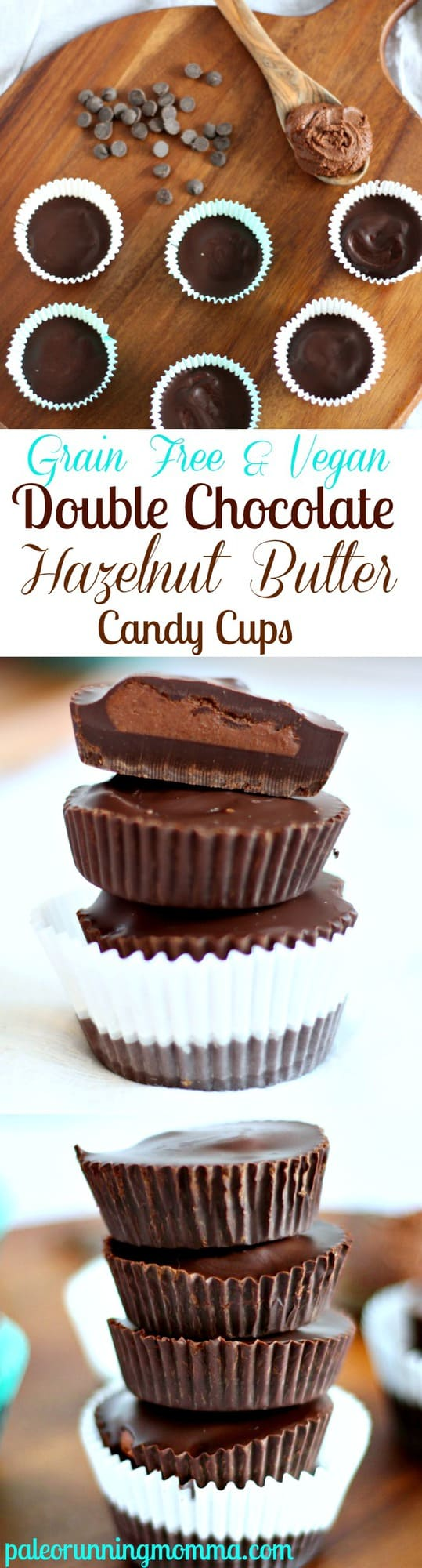 Rich and Creamy Double Chocolate Hazelnut Butter Cups - Vegan and grain free with a stricter paleo option! #grainfree #paleo #glutenfree #dairyfree