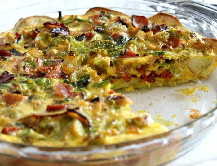 Sweet Potato Crusted Quiche #paleo #whole30