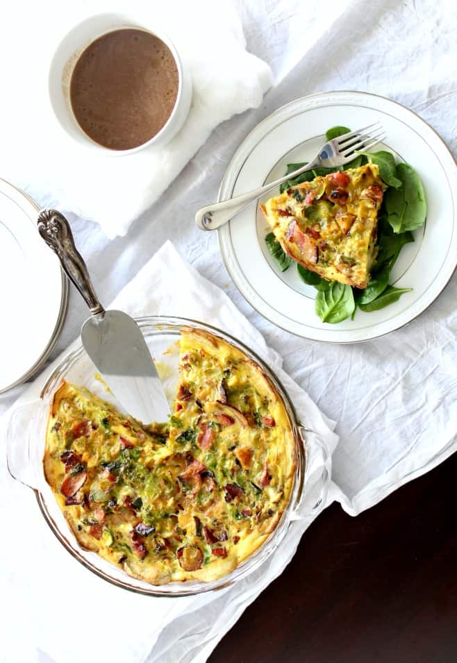 Sweet Potato Crusted Quiche with Coffee #paleo