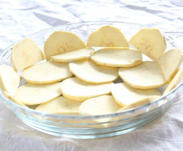 Sweet potato crust assembly