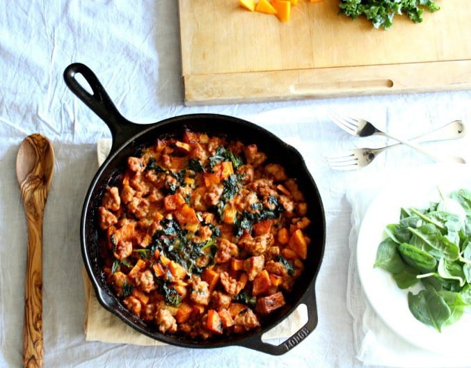 butternut sausage kale bake - paleo & whole30