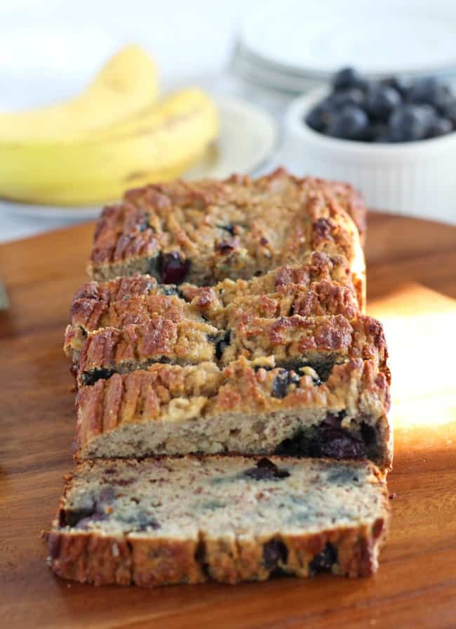 Banana Blueberry Breakfast Bread from paleorunningmomma.com. I'm always looking for new homemade Paleo bread recipes and this looks super good! So much better than store bought bread! Collected on FoodKollective.com