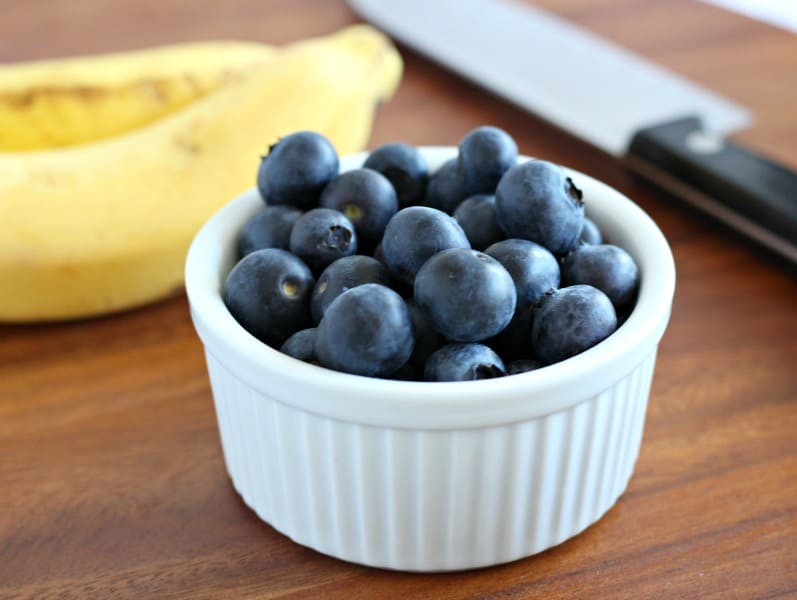 Blueberry banana closeup