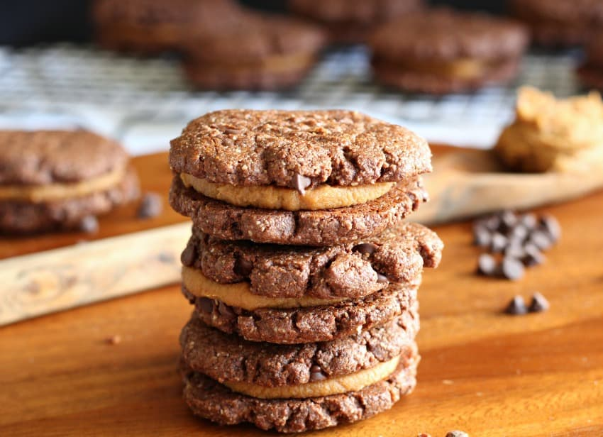 Caramel Brownie Sandwich Cookies - paleo and dairy free