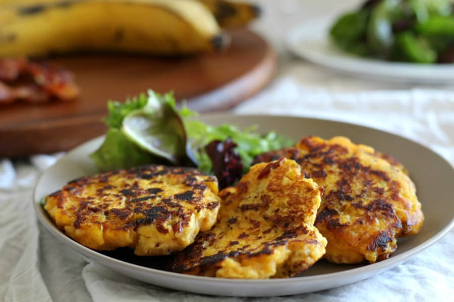 Plantain Bacon Fritters - paleo and whole30