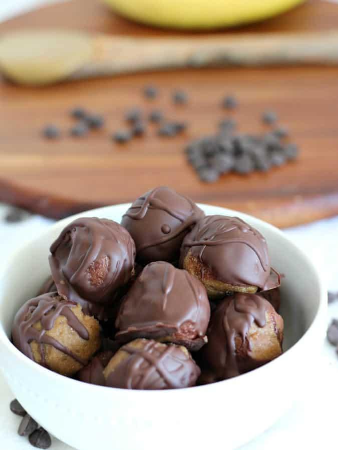 chocolate banana sunflower butter truffles 4