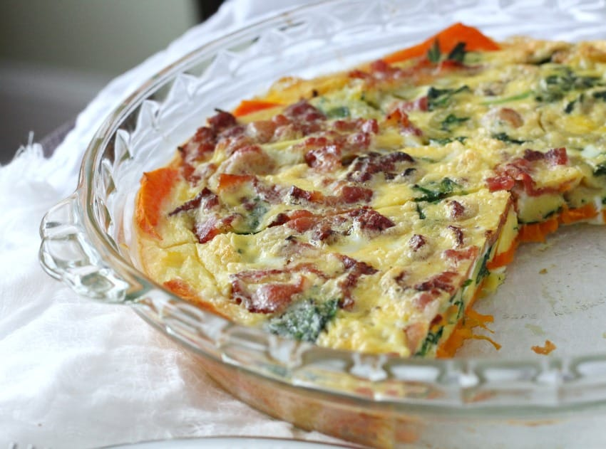 Butternut Crusted Quiche 8