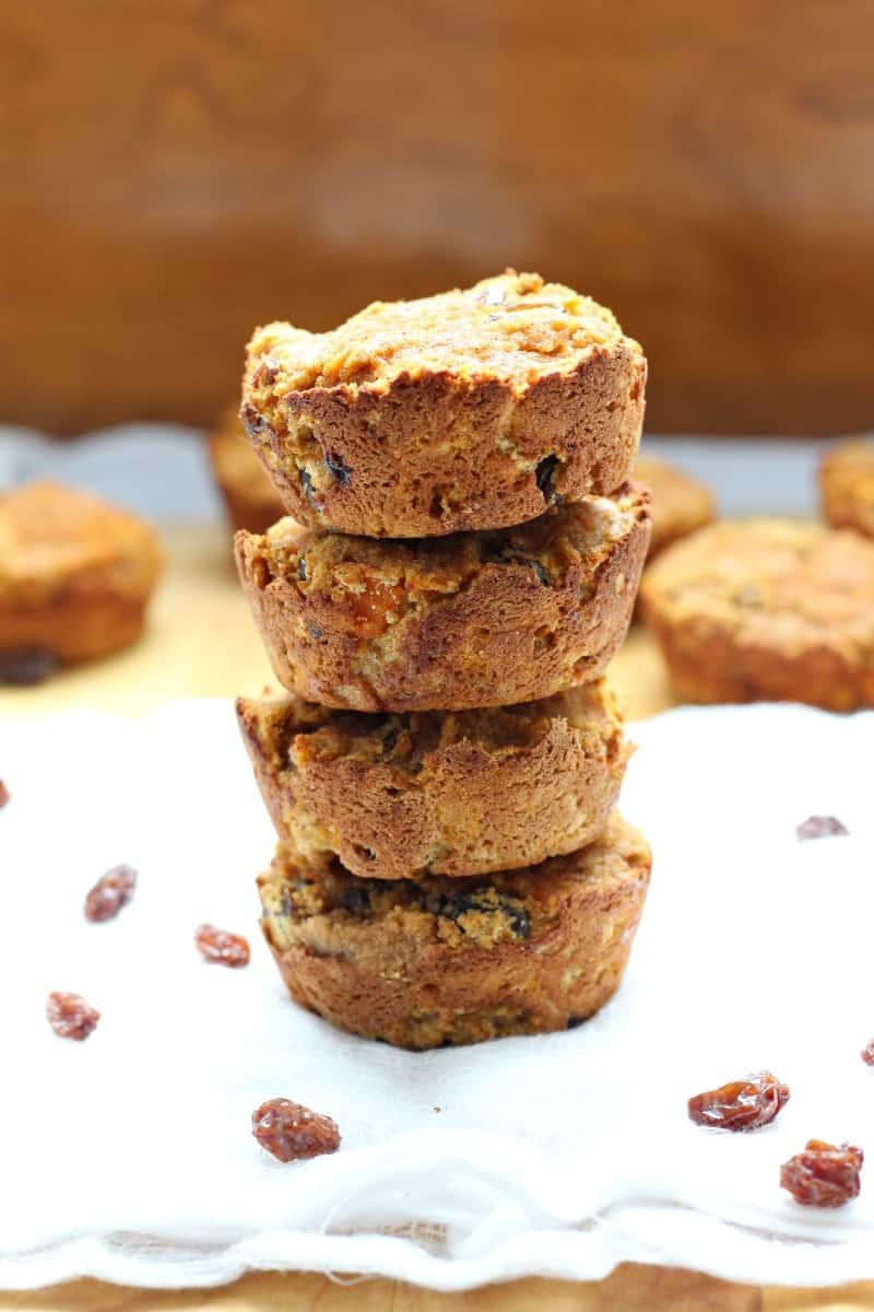 Coconut Flour Carrot Raisin Muffins {Paleo & Nut Free}