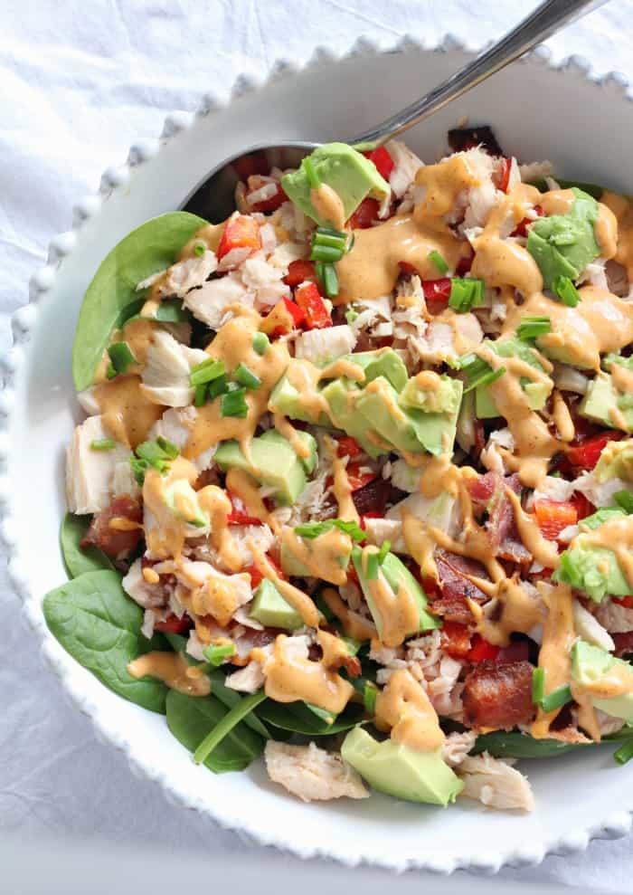 Tuna Salad with avocado, bacon, and chipotle aioli