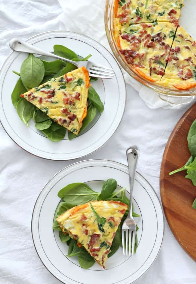 butternut squash crusted quiche 3