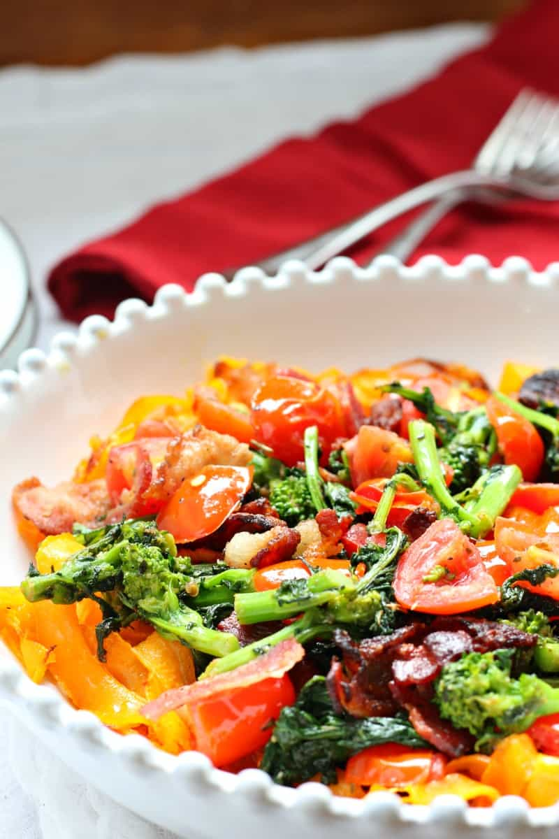 Butternut Squash Pasta with Bacon and Broccoli Rabe