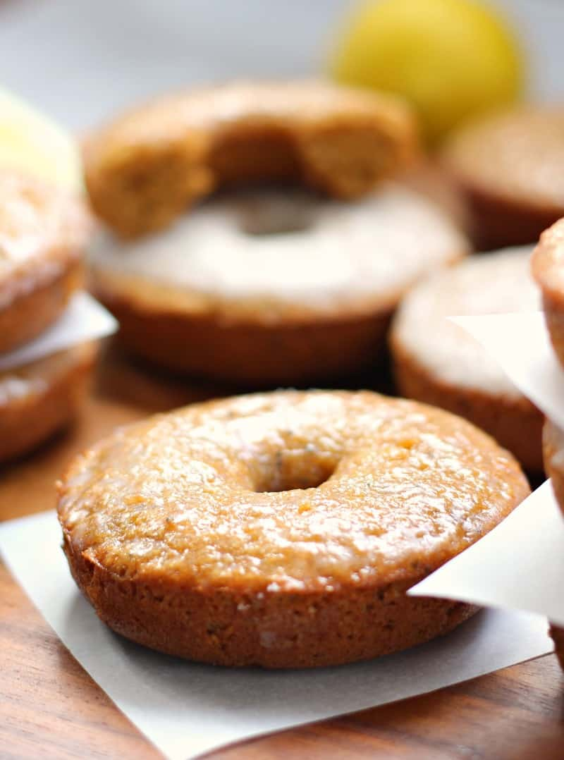Paleo Lemon Poppy seed baked glazed Donuts