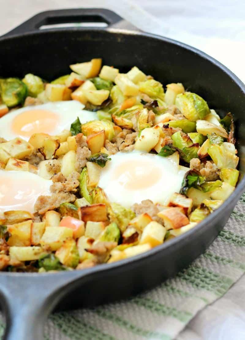 Sweet Potato Hash w/ Brussels Sprouts, Apples & Turkey ...