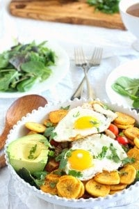 Breakfast Taco Salad with Easy Plantain Chips {Paleo & Whole30}