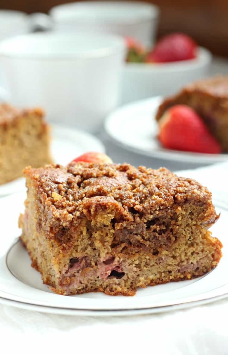 Strawberry banana coffee cake - gluten free, dairy free, paleo