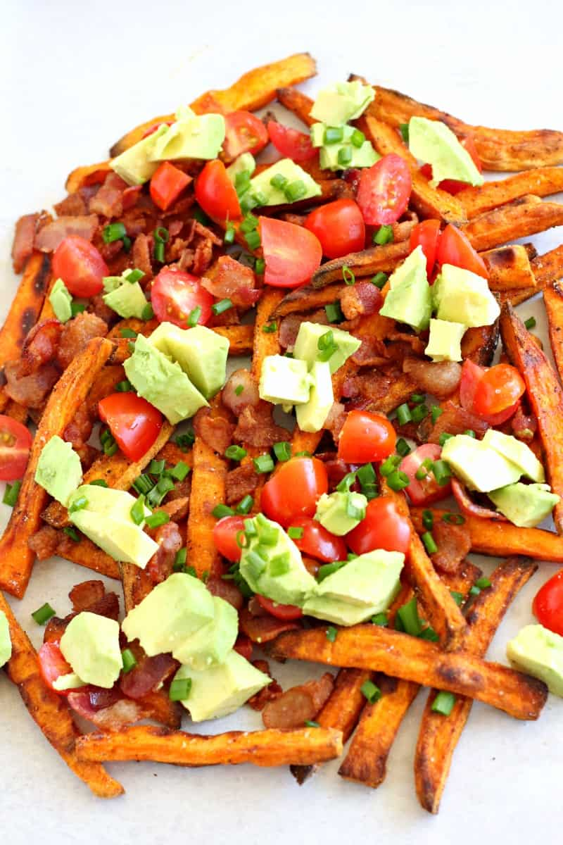 smothered breakfast sweet potato fries