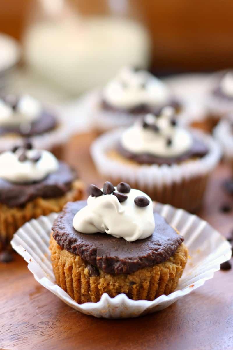 Paleo Chocolate Chip Cookie Cupcakes