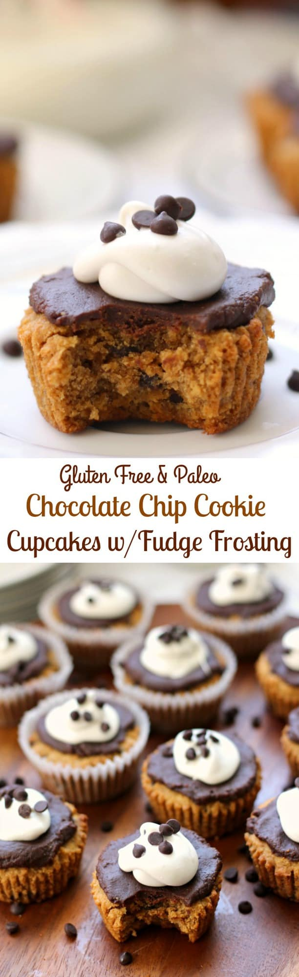 Paleo Chocolate Chip Cookie Cupcakes