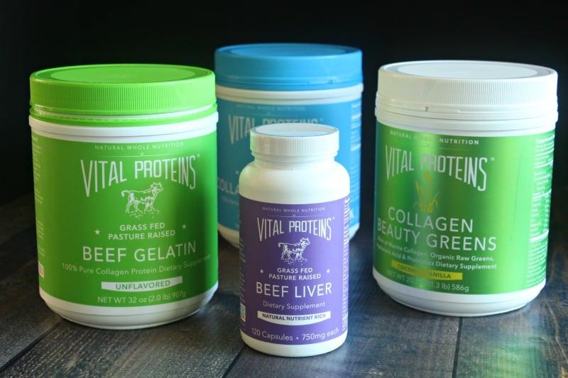 Vital proteins - gelatin, collagen, beef liver