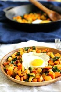 Sweet Potato Apple & Kale Hash with Caramelized Onions {Whole30}