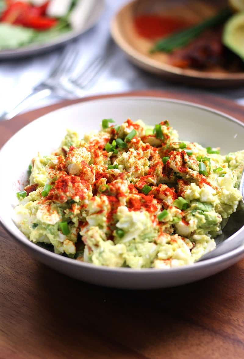 deviled avocado egg salad - no mayo, paleo, whole30