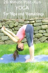 20 Minute Post-Run Yoga for Hips and Hamstrings and Polar M400
