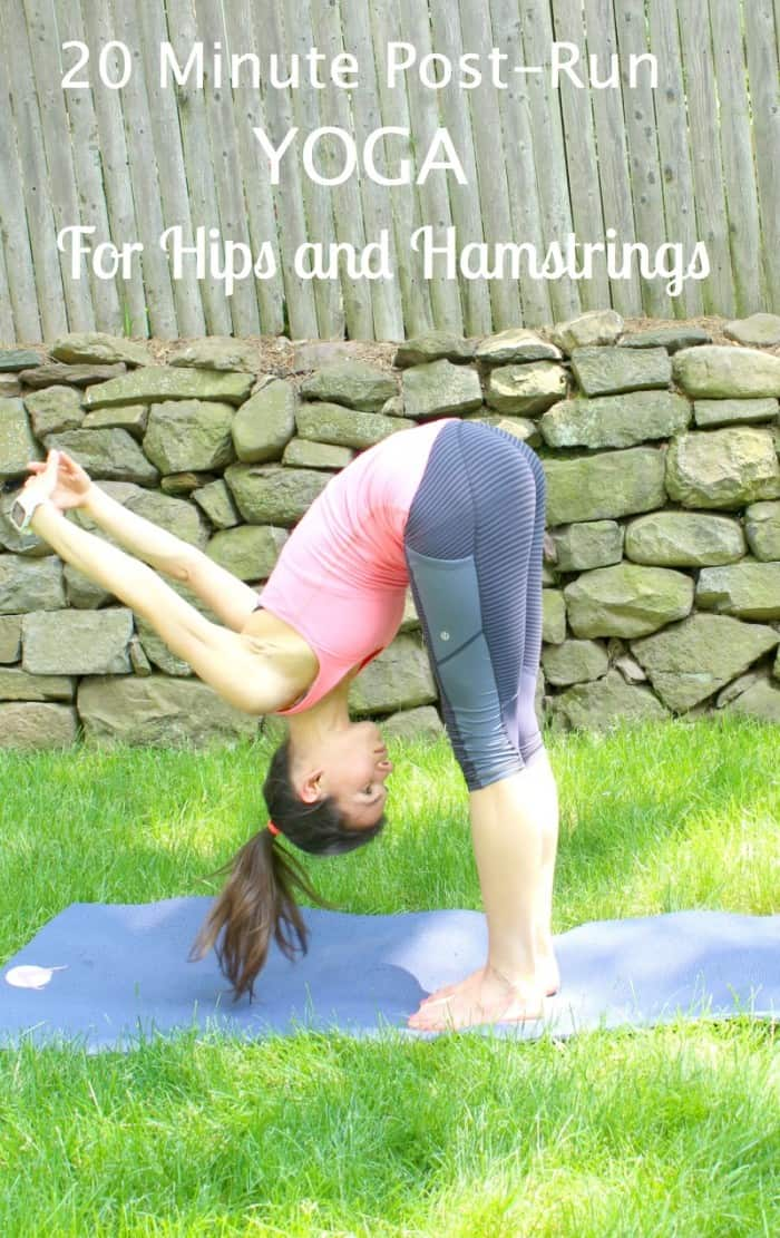 20 minute post run yoga for hips and hamstrings with Polar