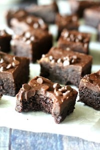 Double fudge almond butter brownies
