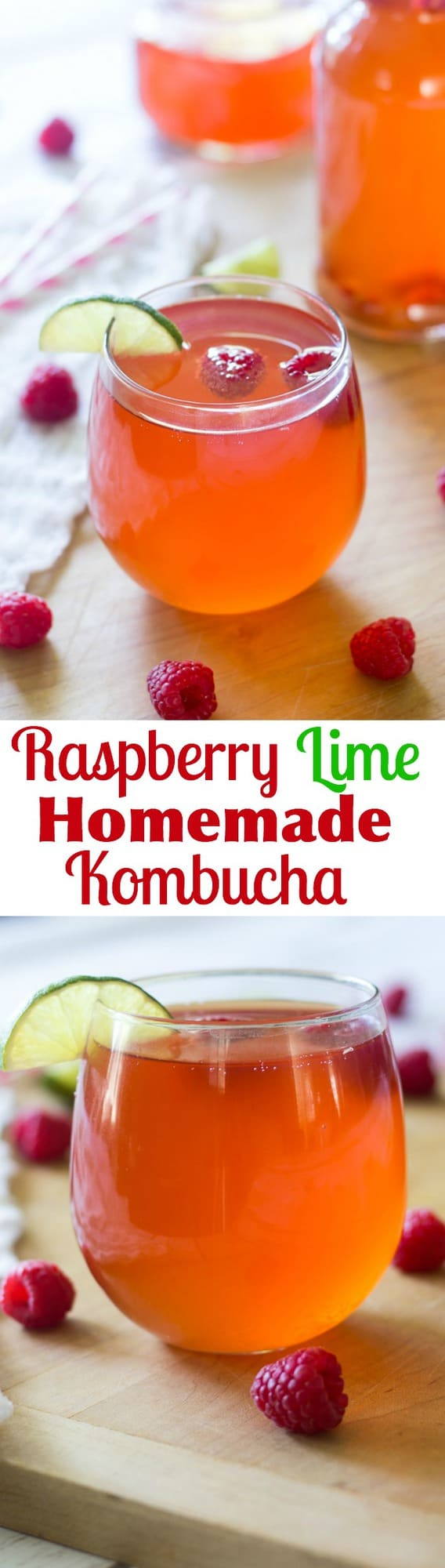 Raspberry Lime Homemade Kombucha