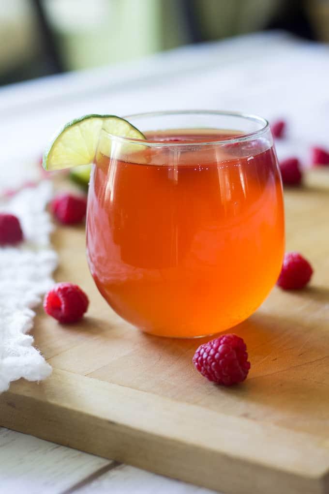 Raspberry lime kombucha-5