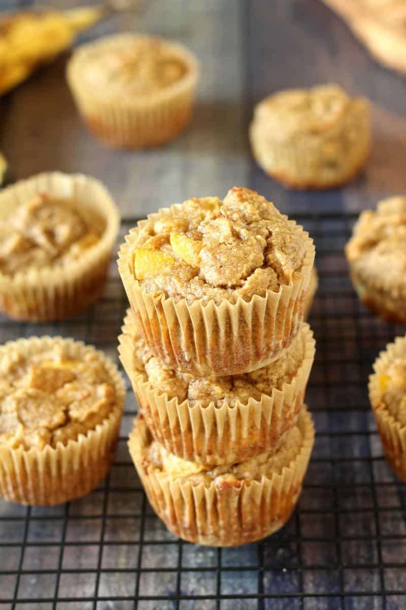 banana peach muffins - paleo and dairy free