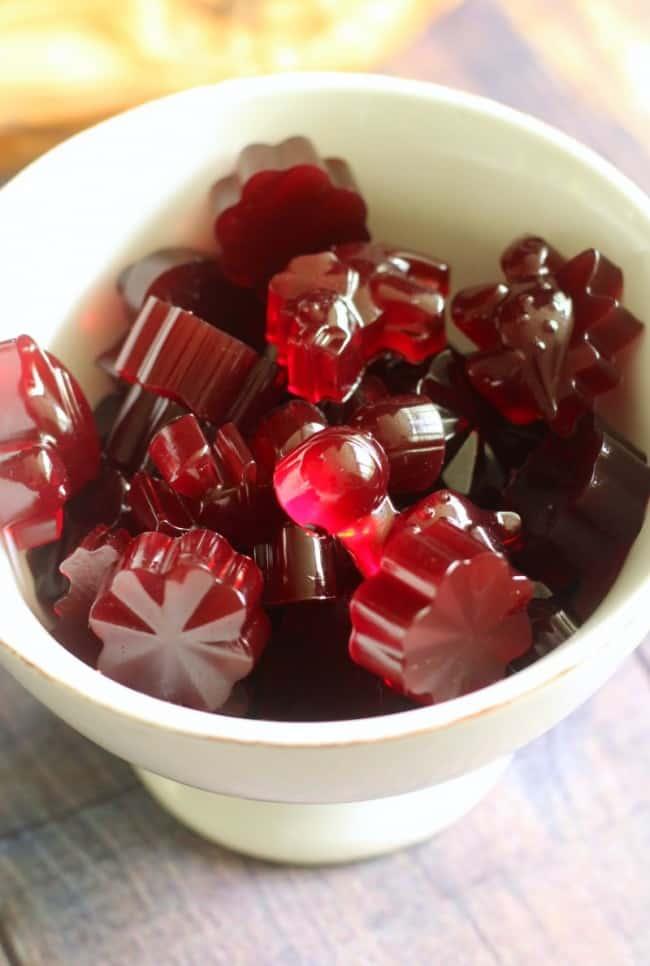 Tart Cherry Lime Homemade Gummy Candy Paleo