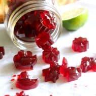 Tart Cherry Lime Homemade Gummy Candy {Paleo} | Paleo