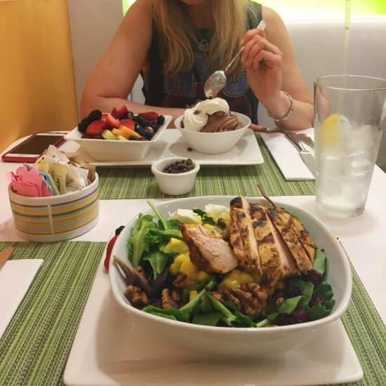 Workouts and Lunch with Meredith at 40 Carrots