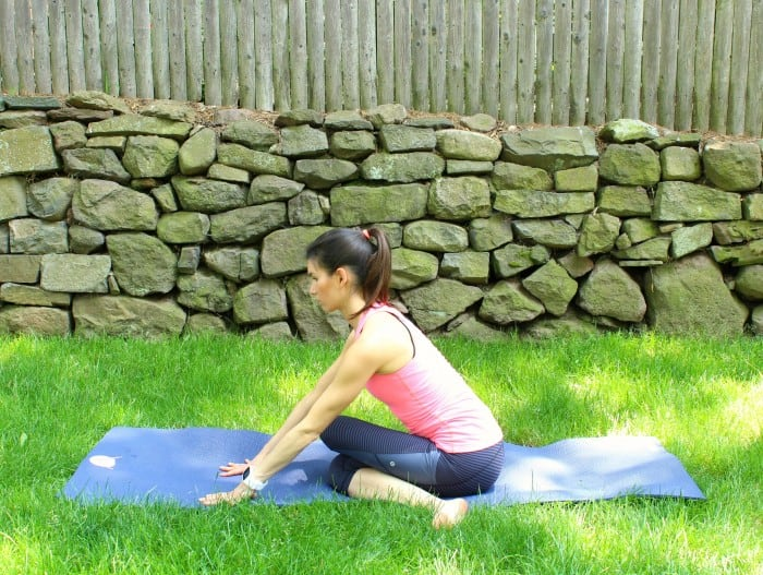 polar hip stretch post run