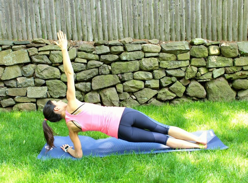 polar side plank post run yoga