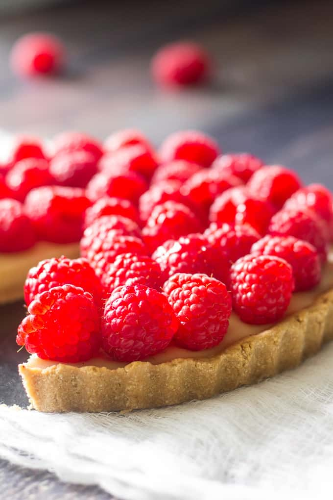 raspberry custard tart-10