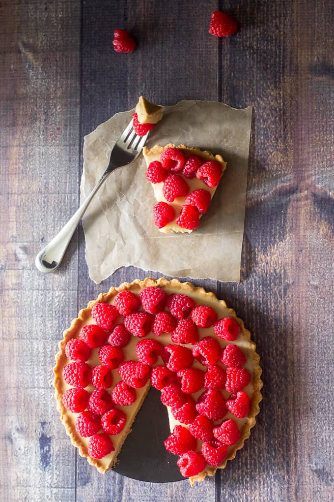 raspberry custard tart-22