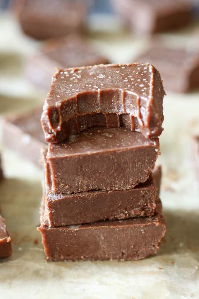 salted chocolate tahini fudge-17