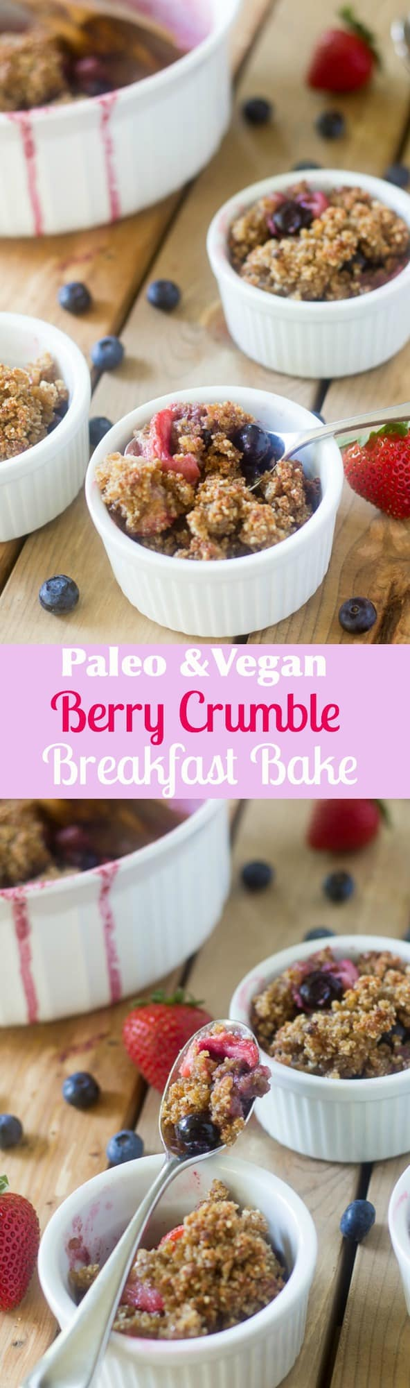 Berry Crumble Breakfast Bake {Paleo & Vegan}