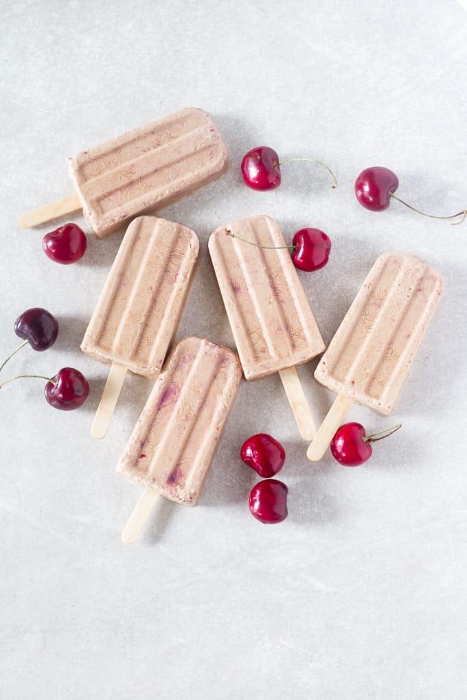 cherry vanilla popsicles-7