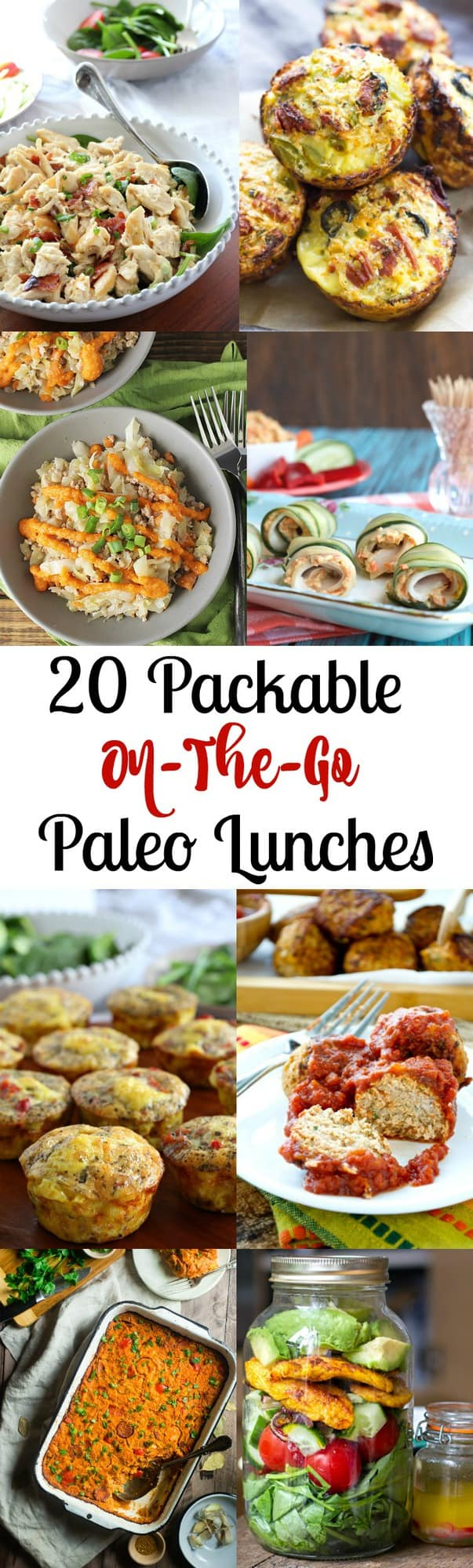 20 packable on-the-go Paleo Lunches