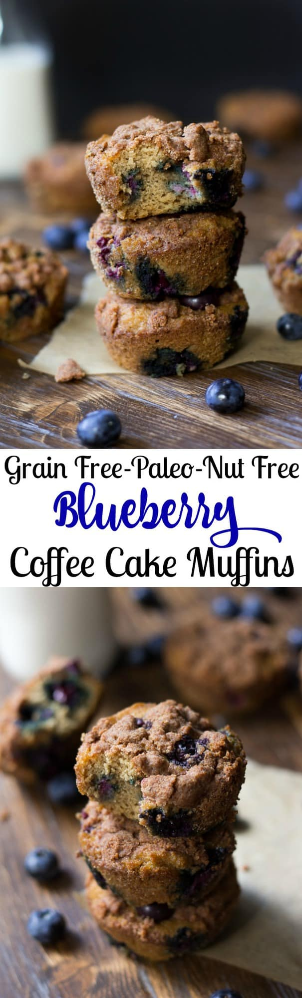 Paleo Blueberry Coffee Cake Muffins