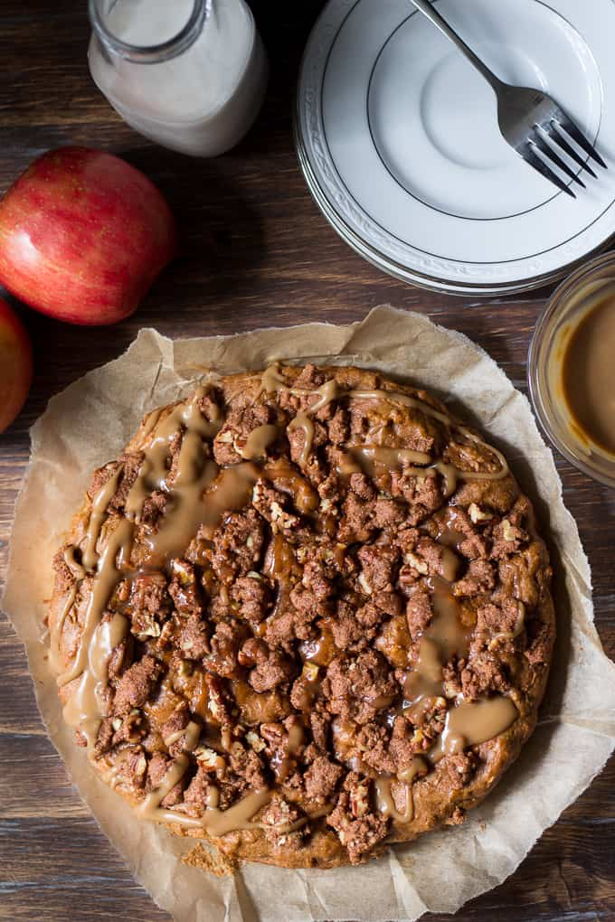 caramel apple coffee cake-4