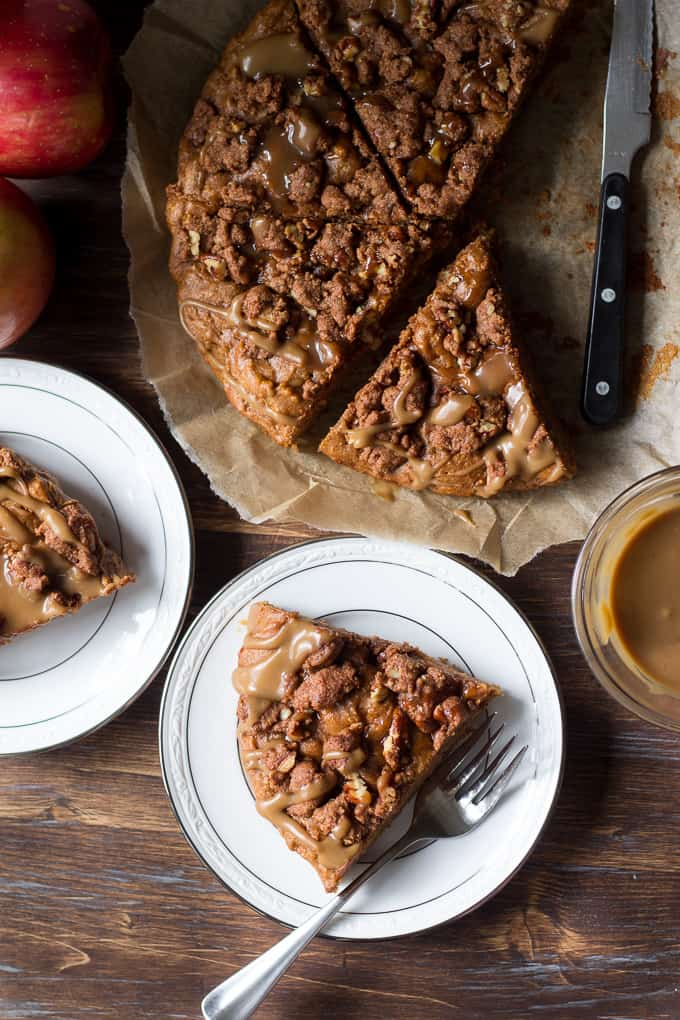 caramel apple coffee cake-5