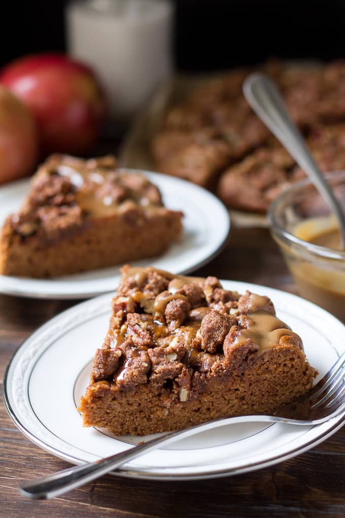 caramel apple coffee cake-6