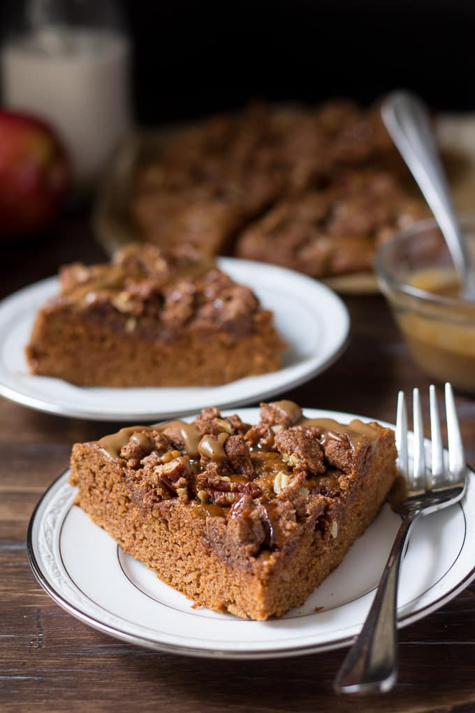 caramel apple coffee cake-7