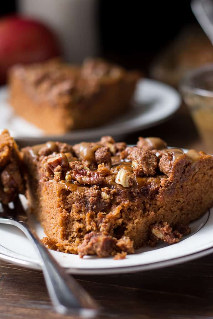 caramel apple coffee cake-8