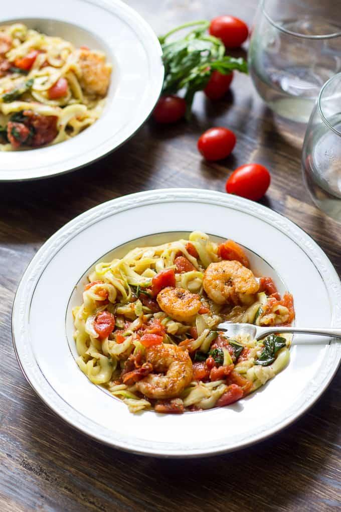 spicy shrimp pasta-14
